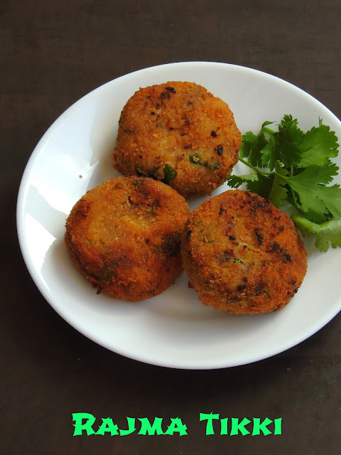 Rajma Tikki, Red Kidney Beans Patties