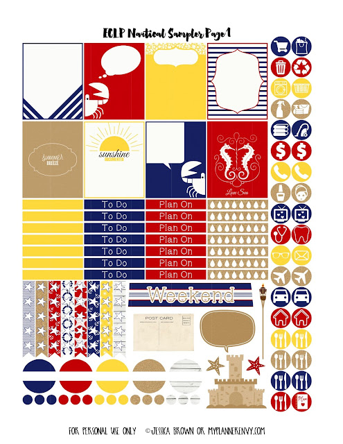 Page 1 of the ECLP Nautical Sampler on myplannerenvy.com