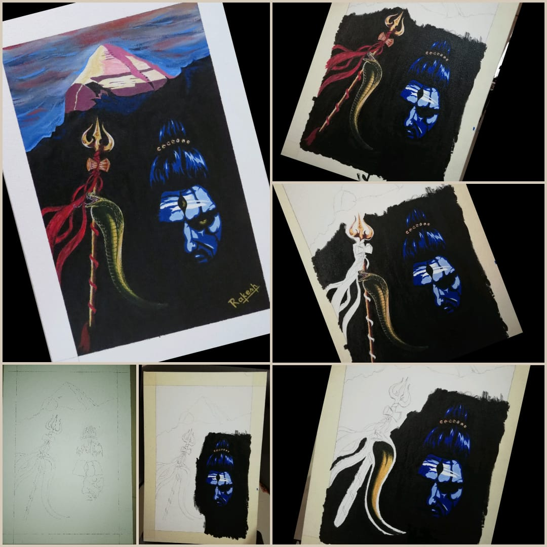Stages of Shiva Painting