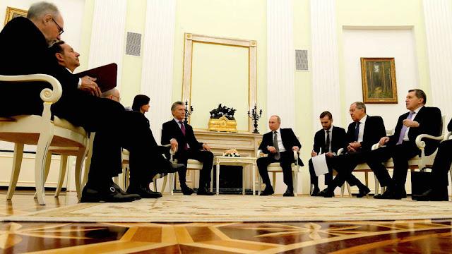 El presidente Mauricio Macri se reunión con su par de Rusia, Vladimir Putin, en el Kremlin