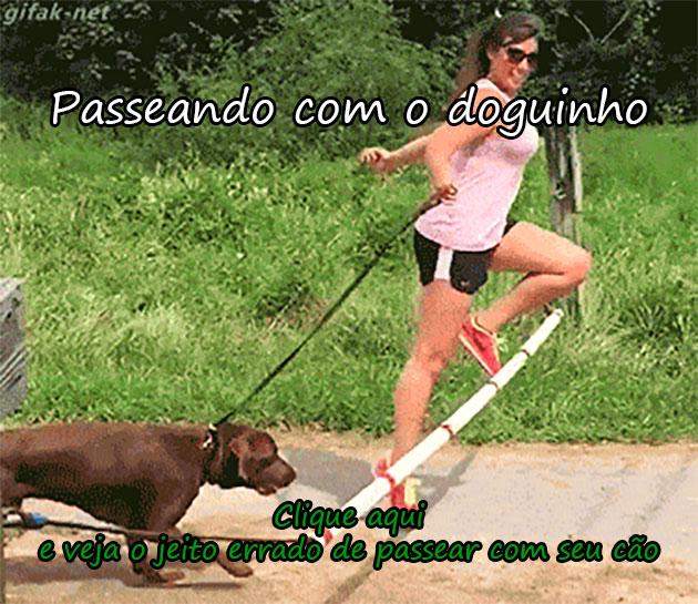 PASSEANDO COM O DOGUINHO