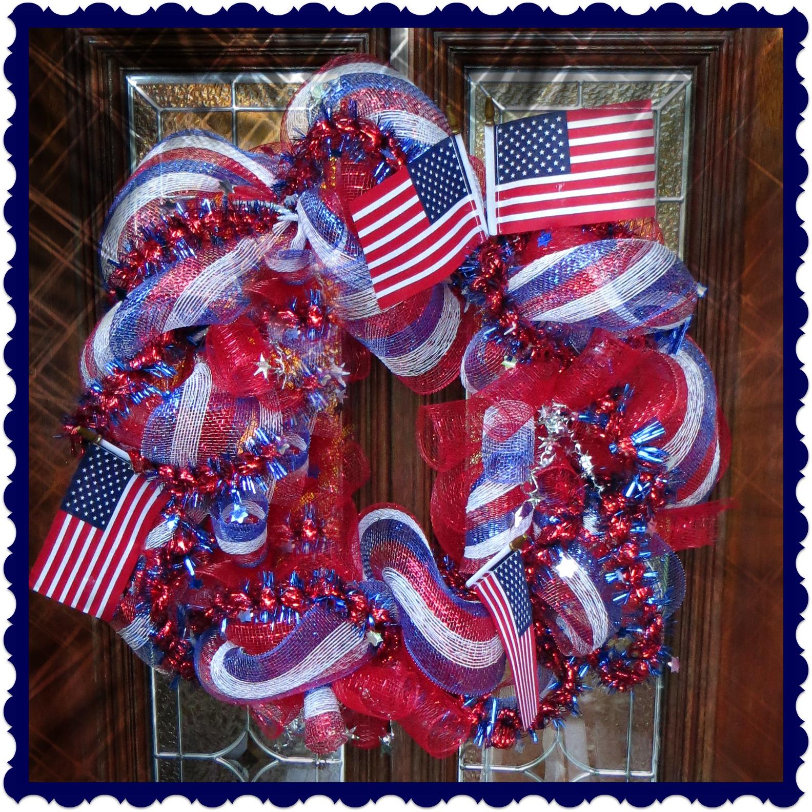 Crafty In Crosby Patriotic Deco Mesh Wreath