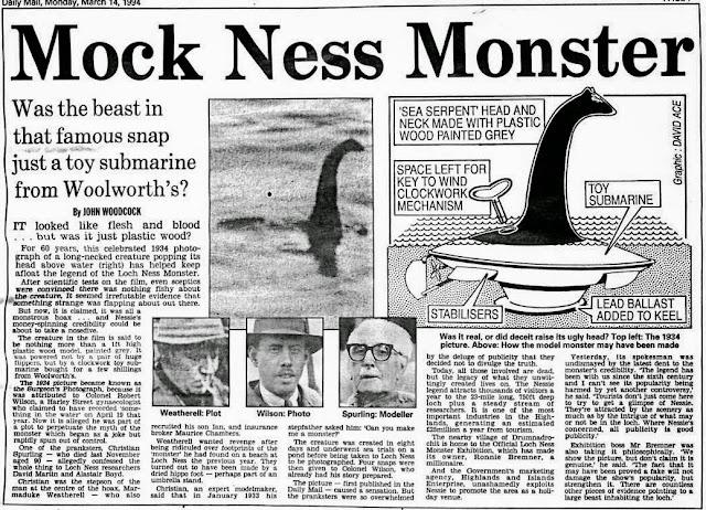 Resultado de imagen de nessie surgeon's photo hoax