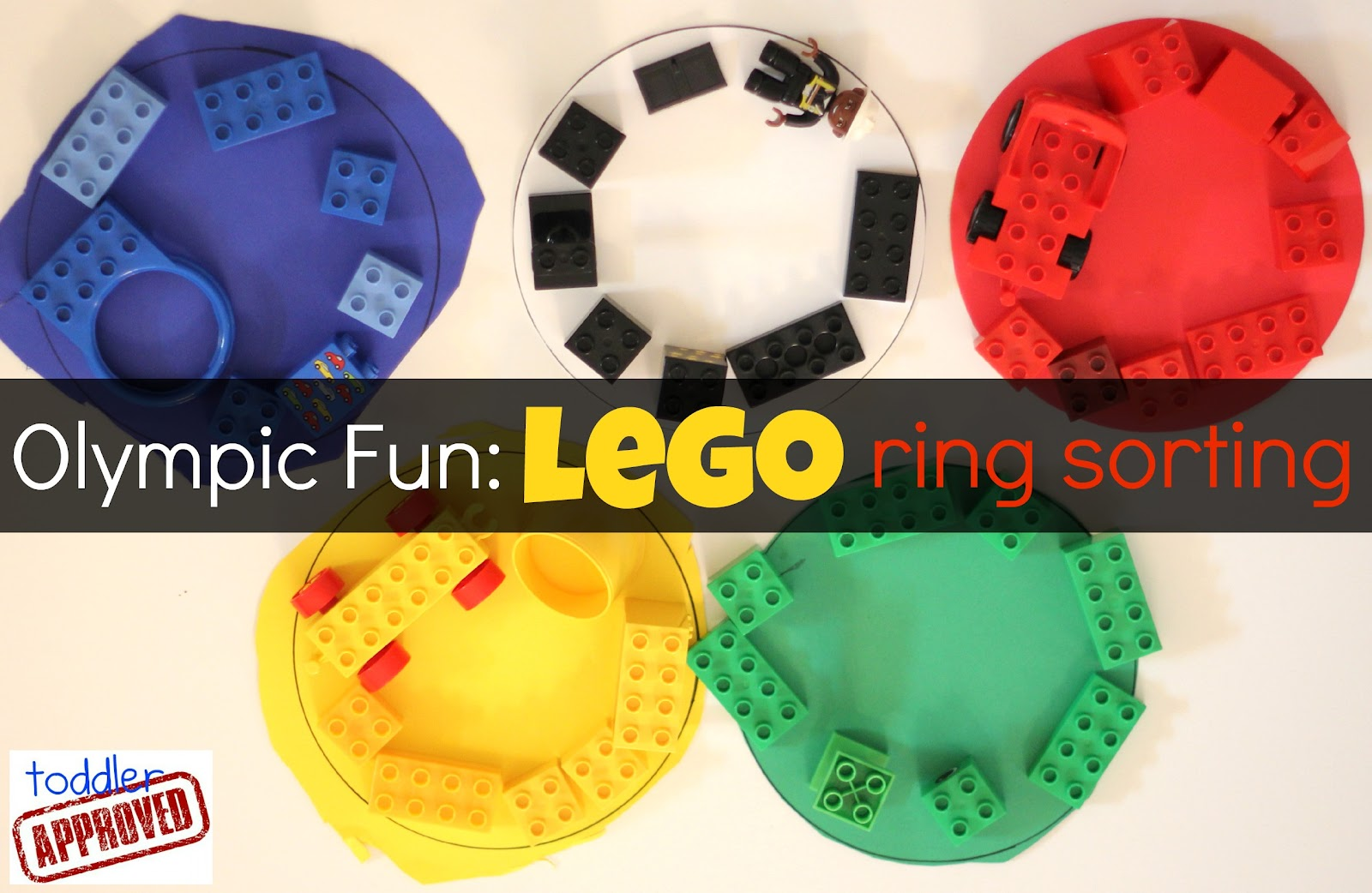 Toddler Approved Olympic Fun Lego Ring Sorting