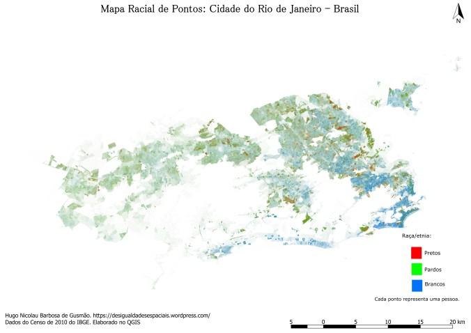 Urban Demographics: The Racial Dot Map of Rio de Janeiro