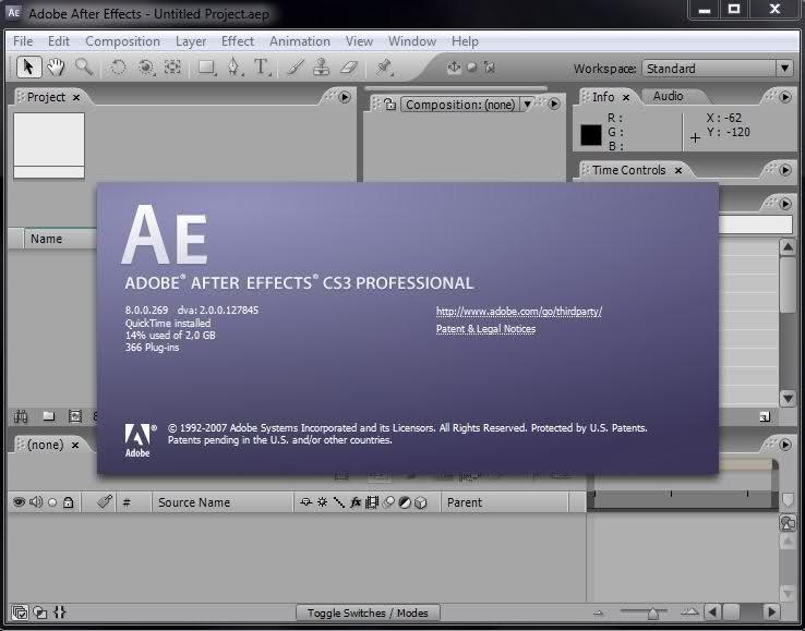 Adobe After Effects CS3 Professional serial key or number
