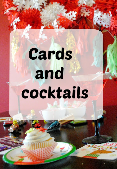 Gather friends for cards and cocktails. See the mini party fun at FizzyParty.com