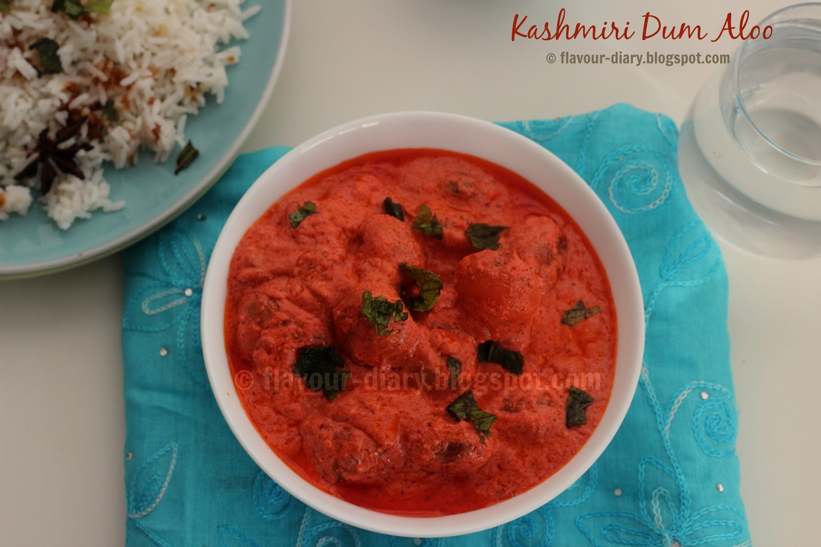 kashmiri Dum Aloo  potato in yogurt gravy
