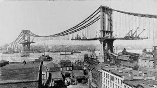 Ponte de Manhattan em construção
