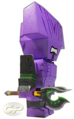 faceless void of dota 2 paper model