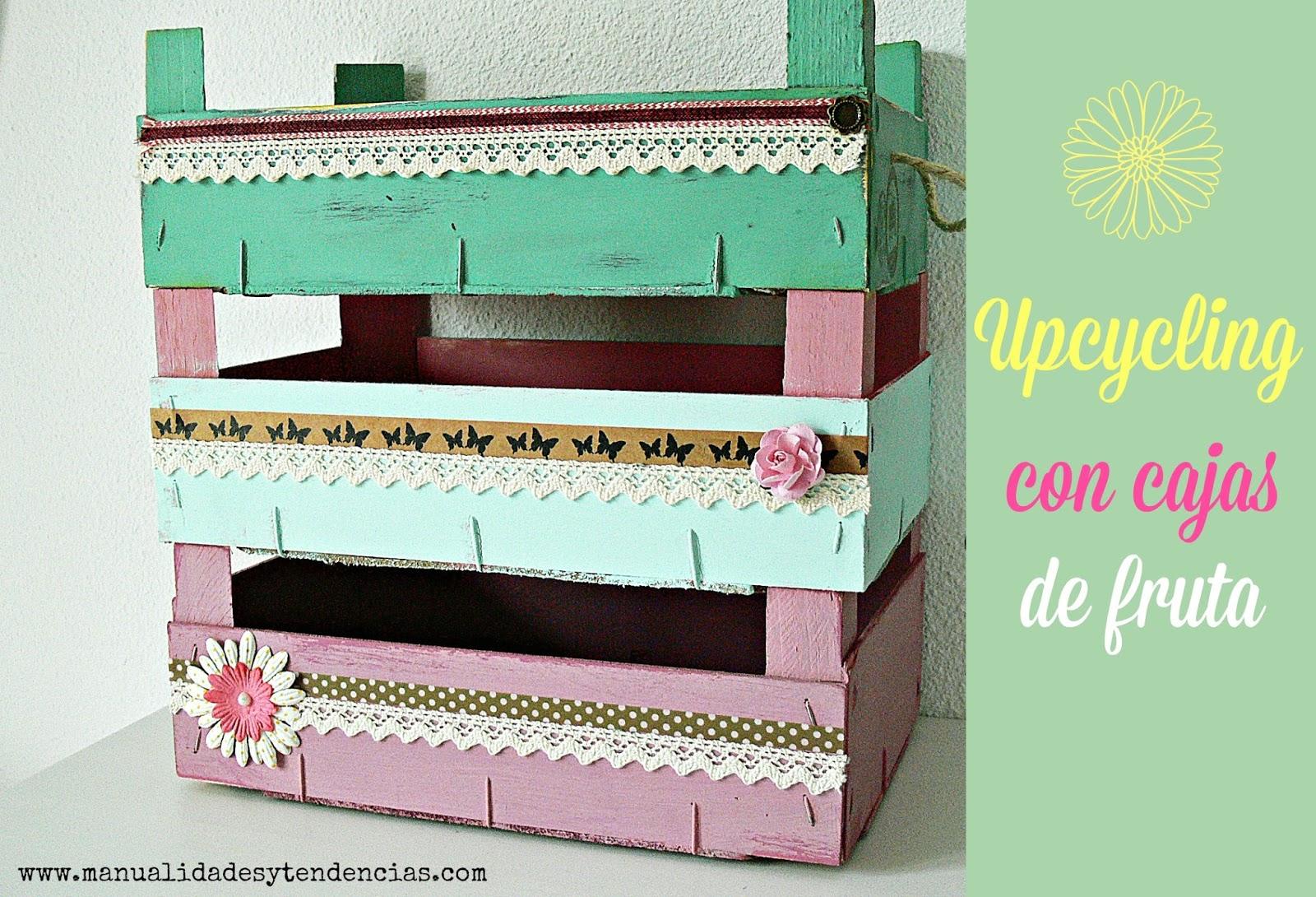 Manualidades y tendencias cajas de fruta shabby chic vintage fruit crates - Cajas de fruta ...