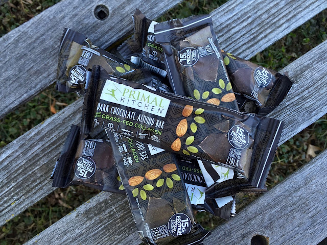 say hello to the primal kitchen dark chocolate almond bar that is