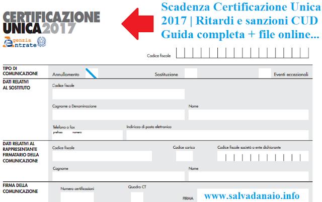 Scadenza-Certificazione-Unica-Ritardi-sanzioni-CUD