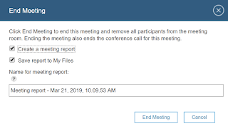 Sametime End Meeting dialog