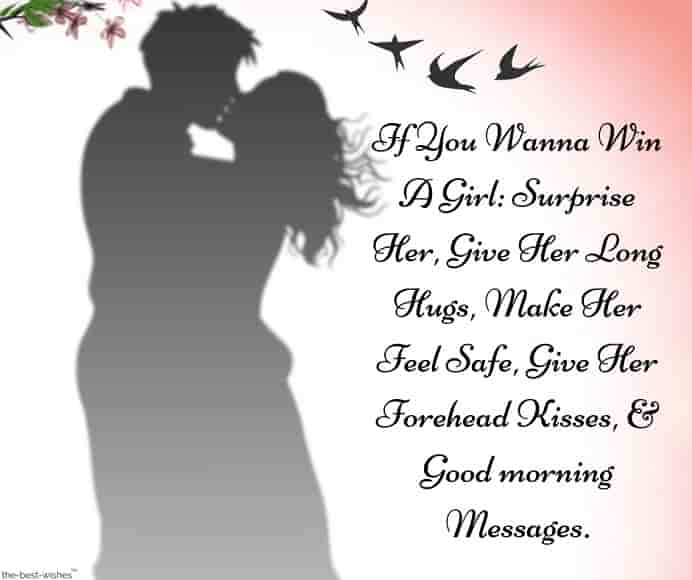 surprise good morning sms romantic message from him to her