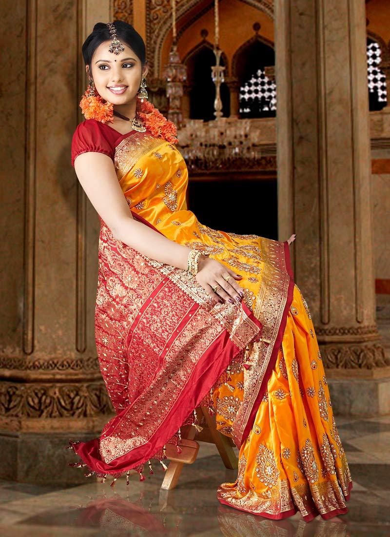 latest fashion silk saree design spicx