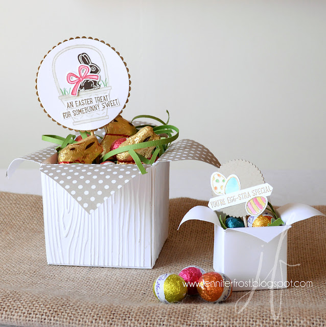 Easter gift, Basket Bunch, Easter Basket, Gift Box Punch Board, Papercraft by Jennifer Frost