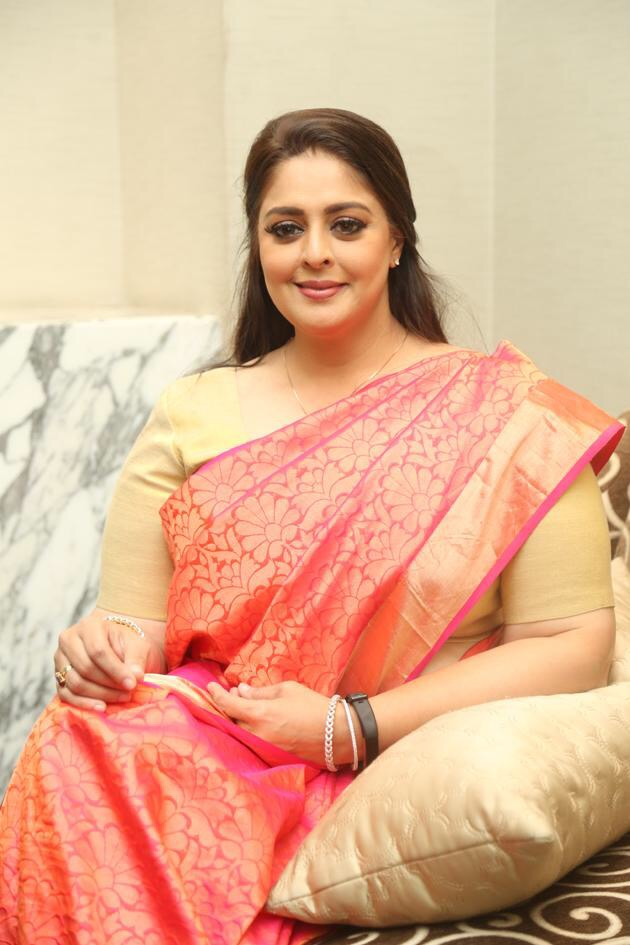 Nagma latest photos in saree after leaving film industry