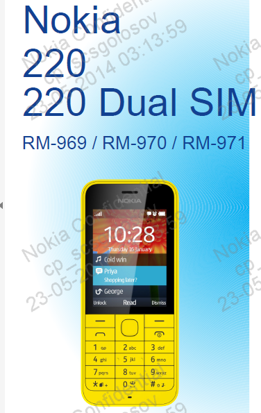 Download schematic diagram Nokia 220 Dual SIM RM969