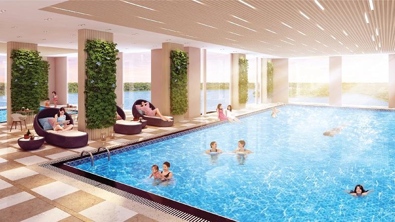 Bể bơi bốn mùa tại Phú Thịnh Green Park