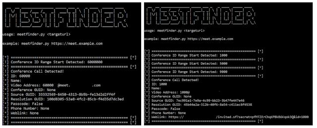 Uso de m33tfinder para detectar conferencias, tanto en legacy como en secure mode img