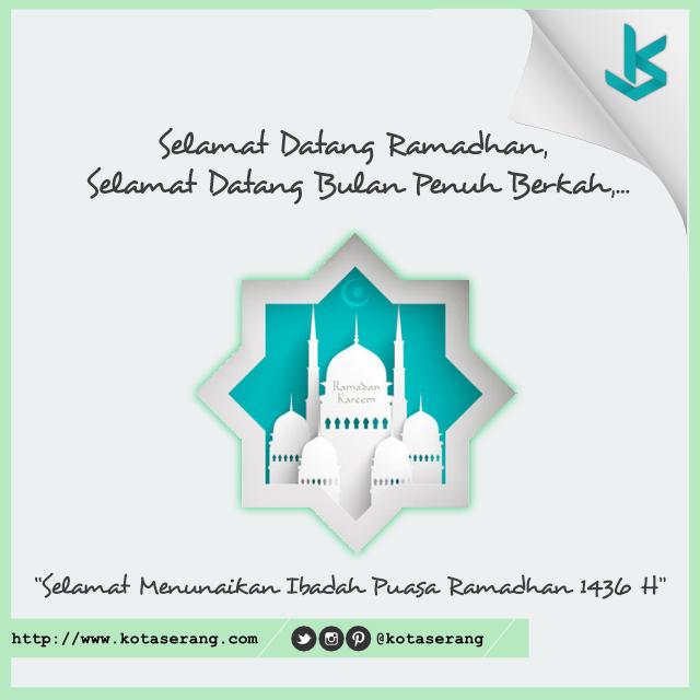 Gambar Vector - Gambar Ucapan selamat ramadhan KotaSerang.com 2015