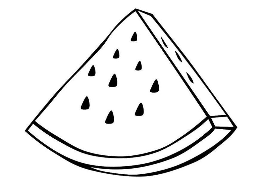 kumpulan gambar sketsa mewarnai buah semangka