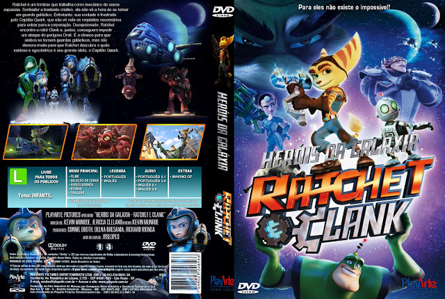 Capa DVD Heróis Da Galáxia Ratchet E Clank