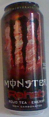 Caffeine King: Monster Rehab Rojo Energy Tea Review