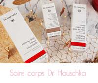 Crème main régénérante, crème hydratante pieds et huile de soin  de Dr Hauschka