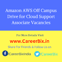 Amazon AWS Off Campus Drive for Cloud Support Associate Vacancies