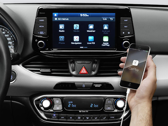 Novo Hyundai i30 2017 - sistema multimídia