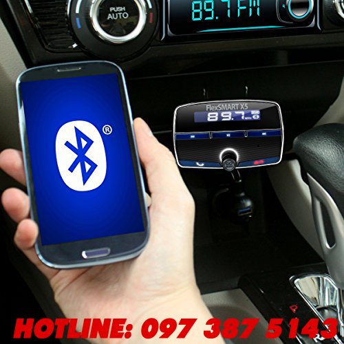 X5 BLUETOOTH CARKIT - Thiết bị đa chức năng: đàm thoại rảnh tay, nghe nhạc, sạc điện thoại