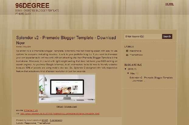 96degree - Free BloggerTemplate