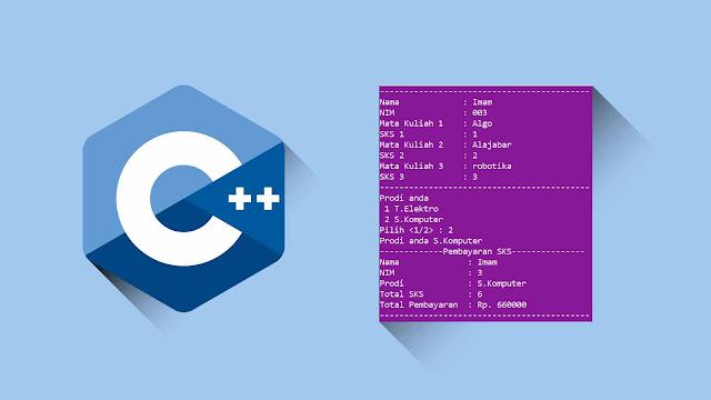 Contoh program C++ Percabangan switch