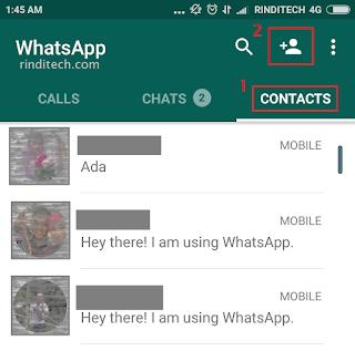 Cara Menambahkan Kontak di WhatsApp