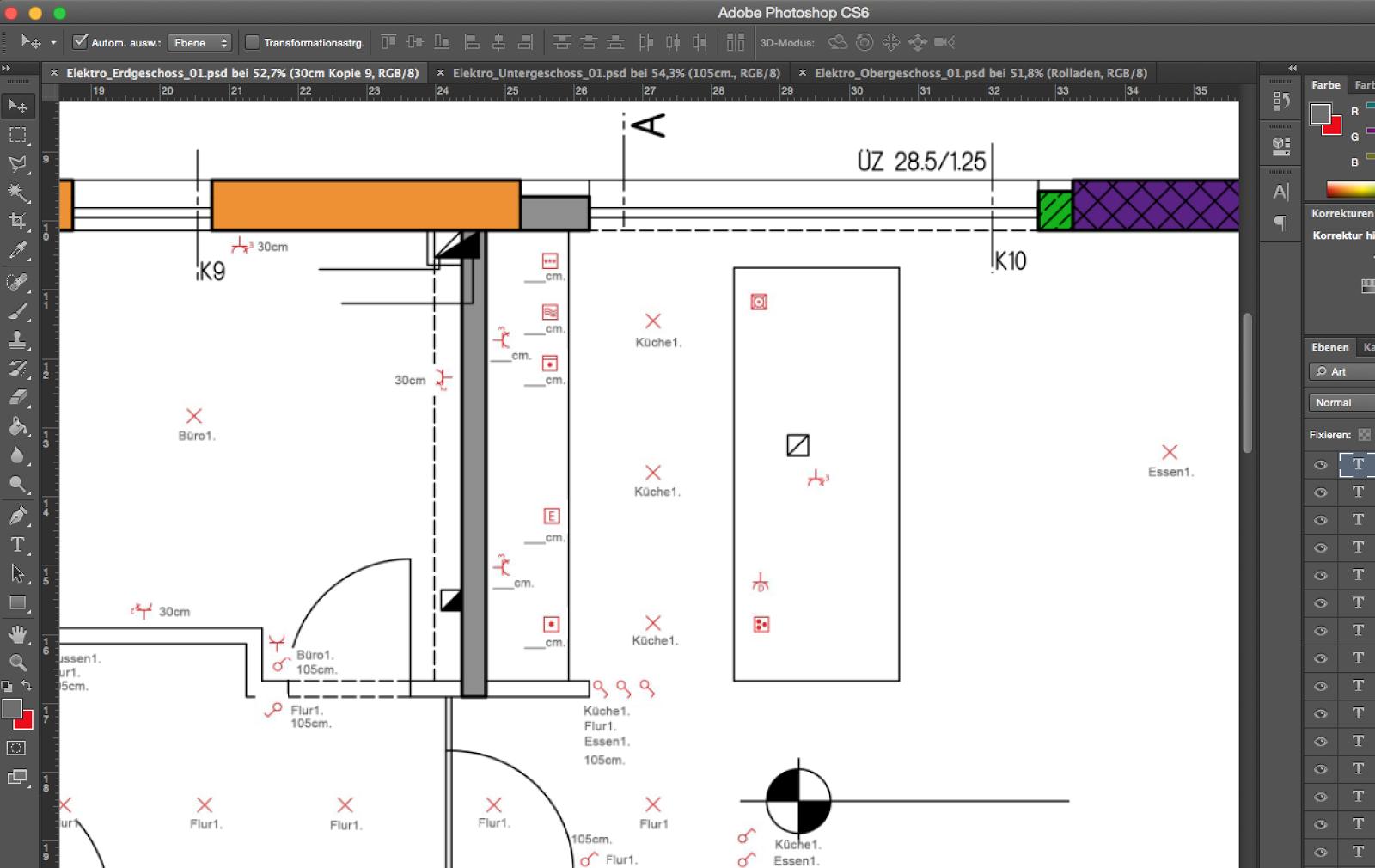 elektroplanung f r den neubau mit photoshop klar geht das bauen und so hausbau einrichtung. Black Bedroom Furniture Sets. Home Design Ideas