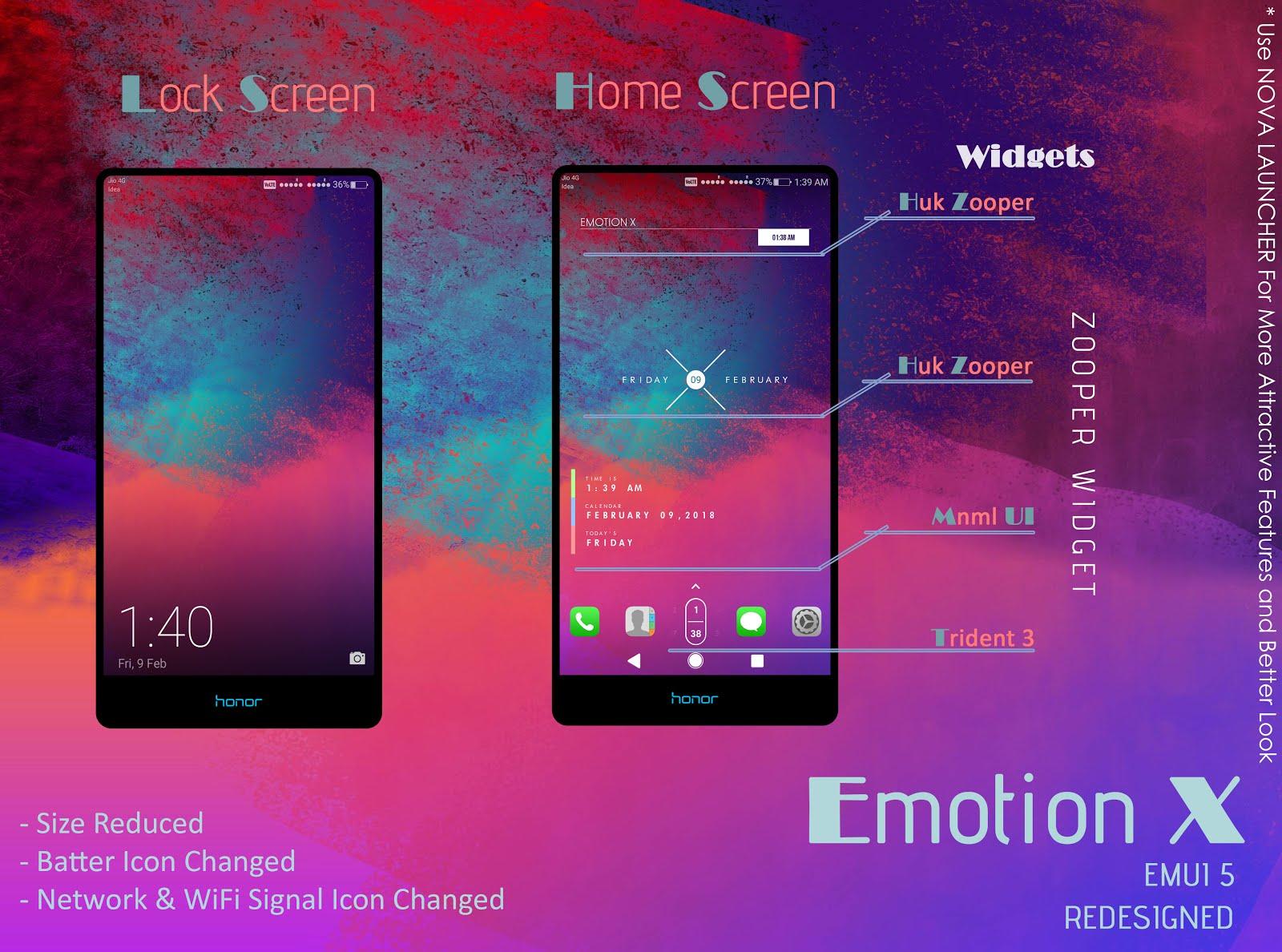 emotion x theme for emui 5 tech masala