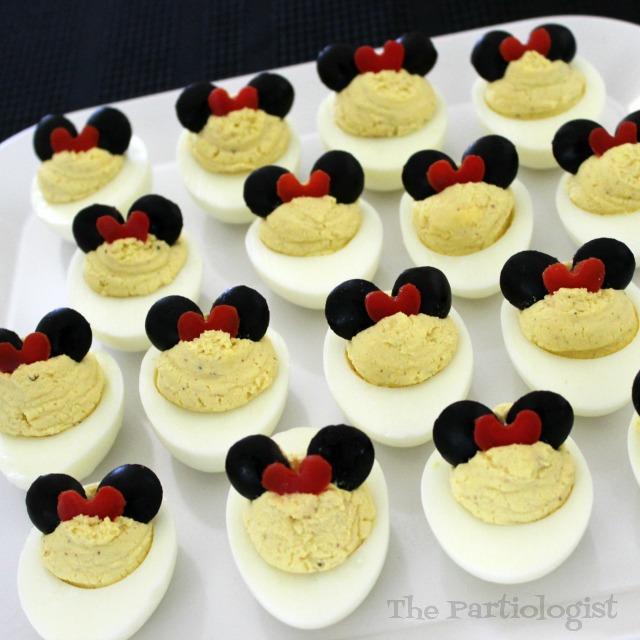 minnie mouse deviled eggs - Christmas Deviled Eggs