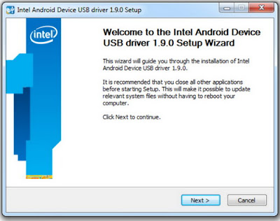 Download Intel USB Driver for Android 1.9.0