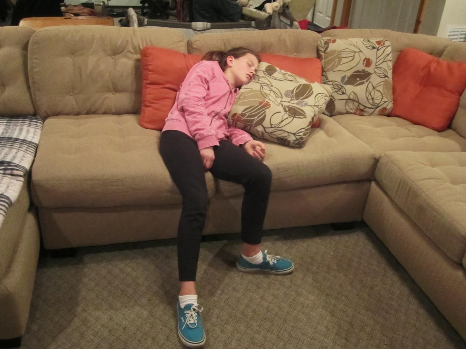 girl sleeping, farm, illinois