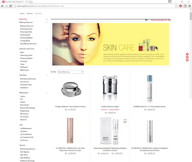 Aplava - Recommended Products  - Online beauty store in India
