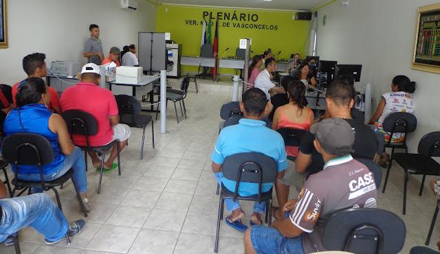 Justiça Eleitoral realiza cadastramento Biométrico na Câmara de Baraúna