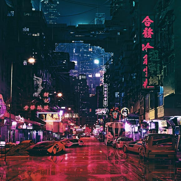 Cyberpunk Futuristic City Wallpaper Engine