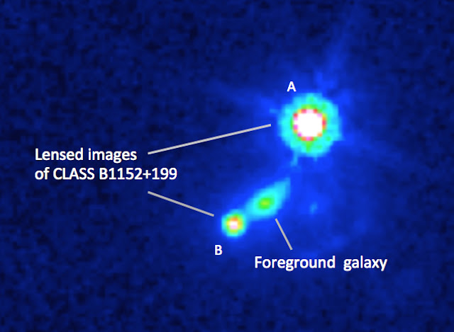 VLA reveals distant galaxy's magnetic field