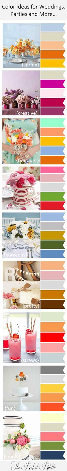 Perfect Color Combinations color ideas for weddings, parties and more | the perfect palette