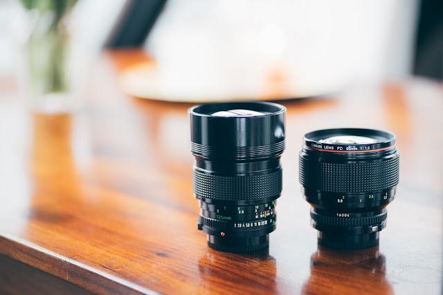 Canon FD 135mm 1:2.0  & Canon FD 85mm 1:1.2L