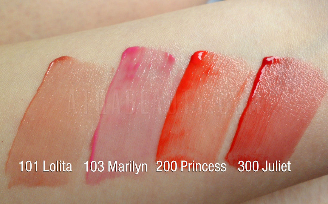 L'oreal Shine Caresse, 101 Lolita, 103 Marilyn, 200 Princess, 300 Juliet