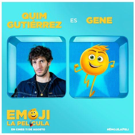 Quim Gutiérrez será Gene en Emoji La Película