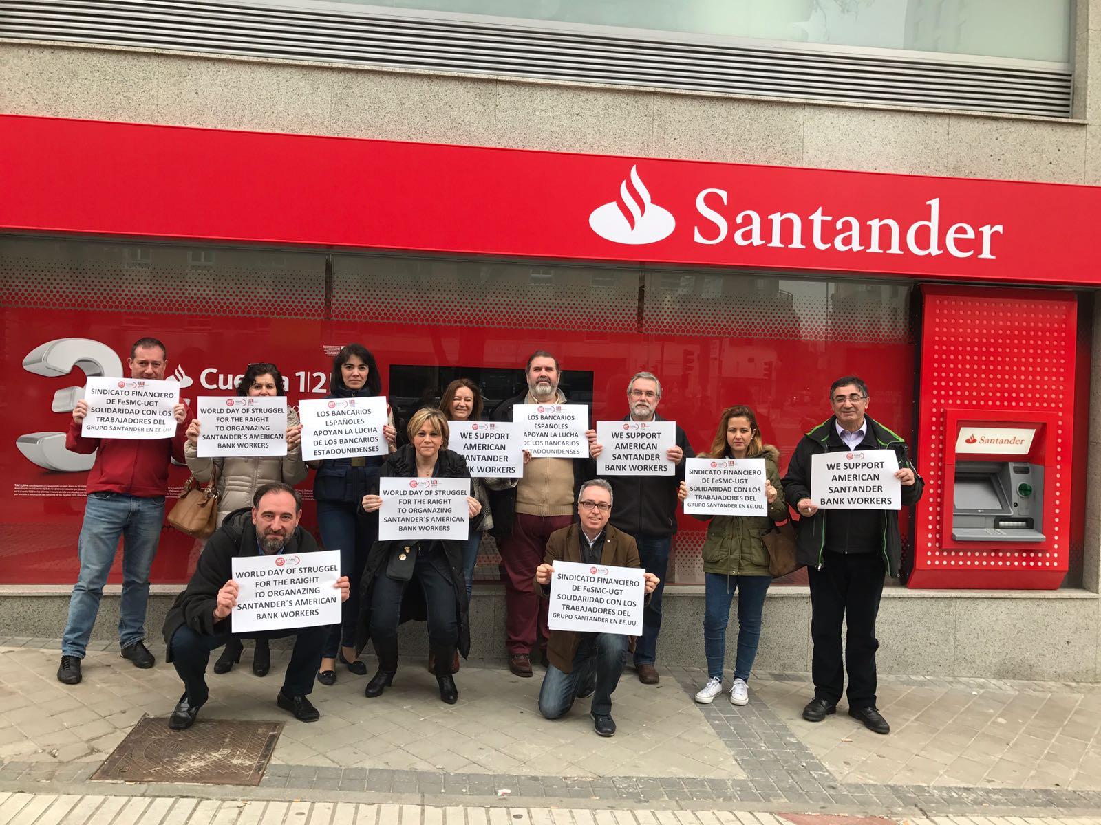 Secci n sindical de ugt madrid en banco santander for Banco santander oficina central madrid